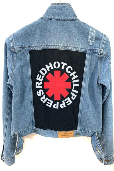 Jaqueta Jeans Rock Destroyed Tradicional Feminina Red Hot