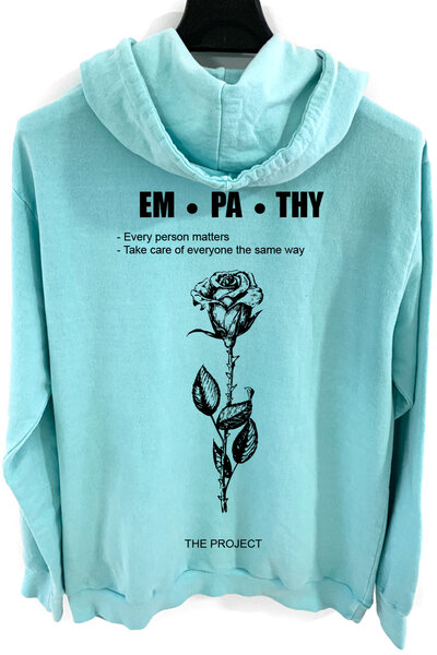 Blusa de moletom estonado azul Empath