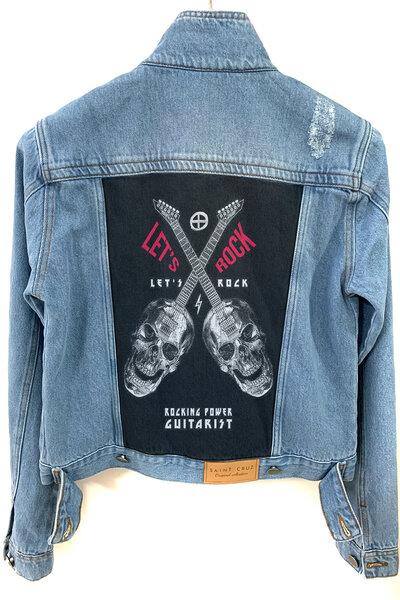 Jaqueta Jeans Destroyed Tradicional Feminina Lets Rock