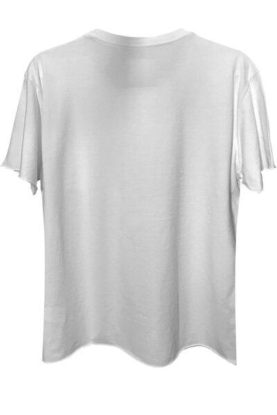 Camiseta com bolso branca Skull (front)