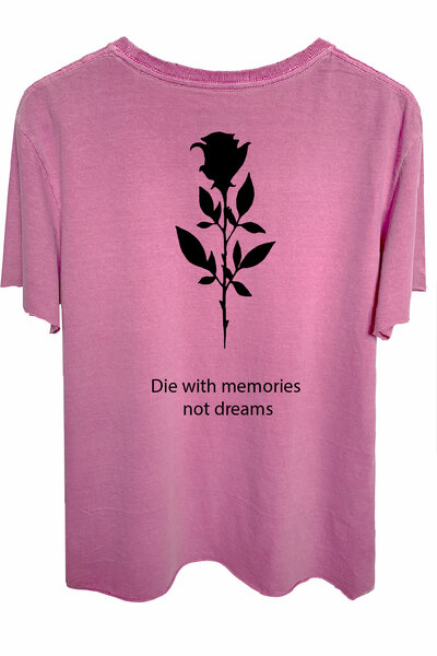Camiseta estonada vinho Memories