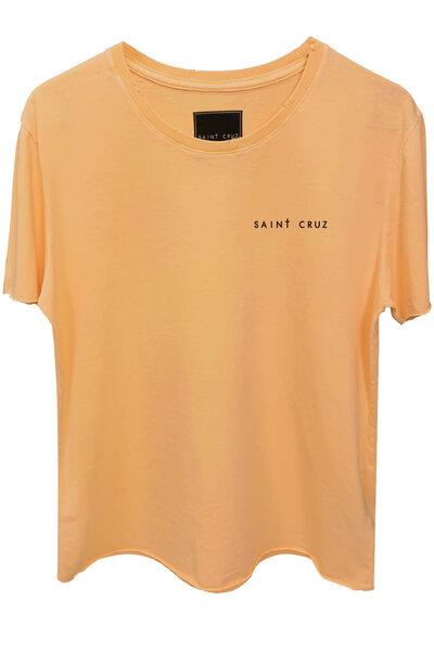 Camiseta estonada salmão Drug