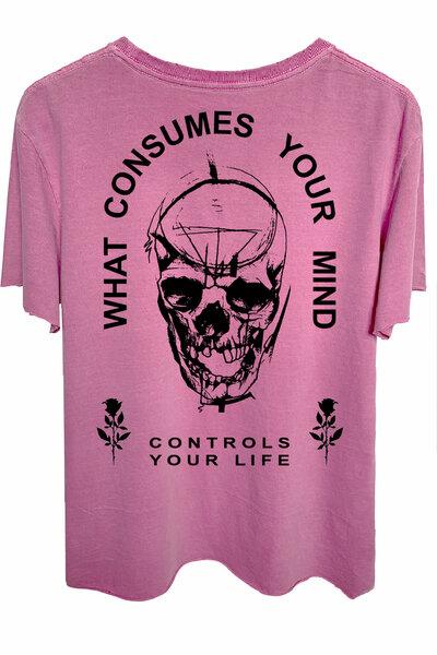 Camiseta estonada vinho Controls