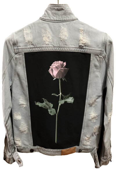 Jaqueta Jeans Destroyed Cru Masculina Rose