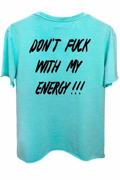 Camiseta estonada azul água Energy