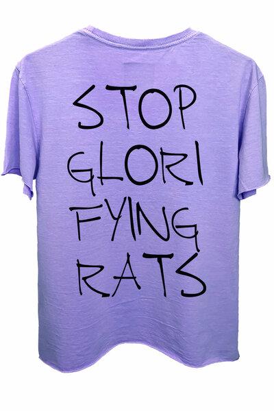 Camiseta estonada lilás Rats