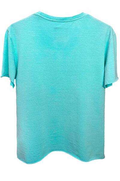 Camiseta estonada azul água Cross