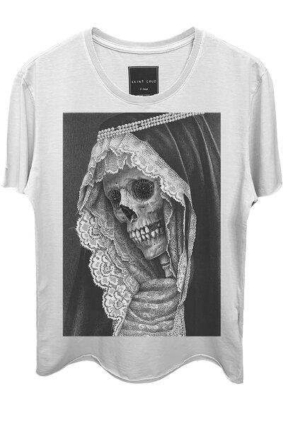 Camiseta branca Madre Skull
