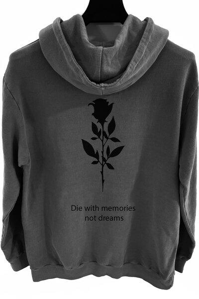 Blusa de moletom estonado chumbo Memories