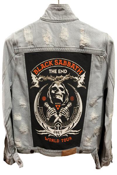 Jaqueta Jeans Destroyed Cru Masculina Black Sabbath