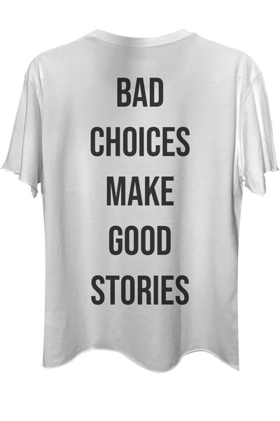 Camiseta com bolso branca Bad Choices
