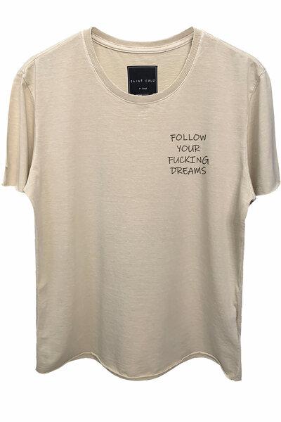 Camiseta estonada areia Dreams (Front)