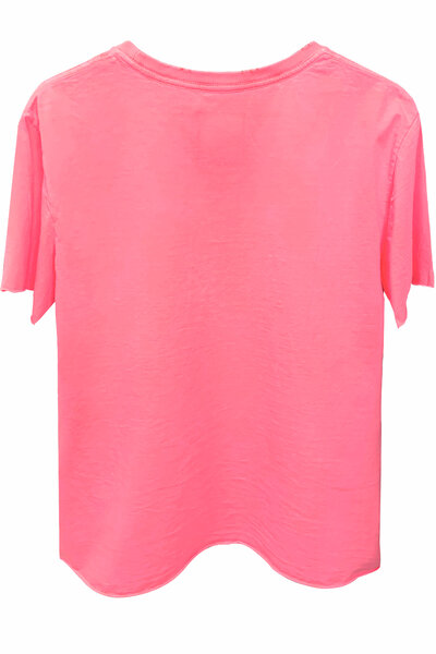 Camiseta estonada rosa Basic