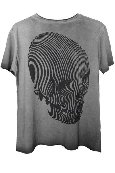 Camiseta estonada cinza Stripes