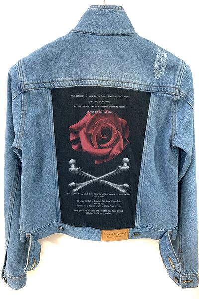 Jaqueta Jeans Destroyed Tradicional Feminina Spirit