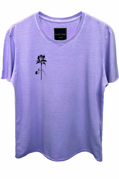 Camiseta estonada lilás Rose