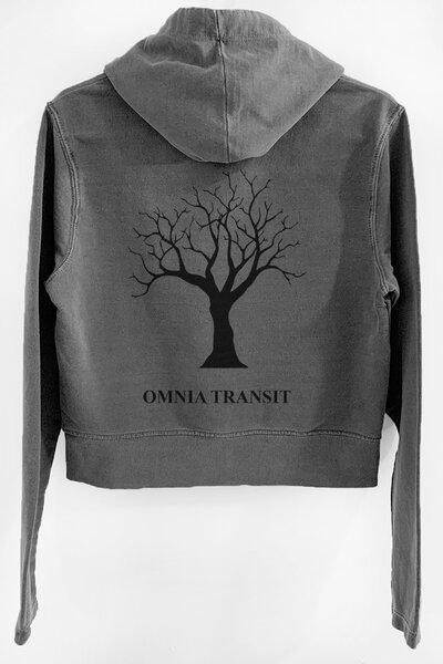 Blusa de moletom estonado chumbo Feminino Omnia Transit
