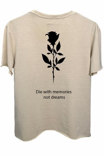 Camiseta estonada areia Memories