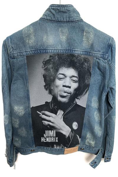 Jaqueta Jeans Rock Destroyed Tradicional Masculina Jimi Hendrix