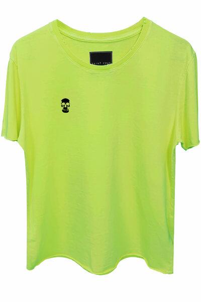 Camiseta estonada amarela Skull