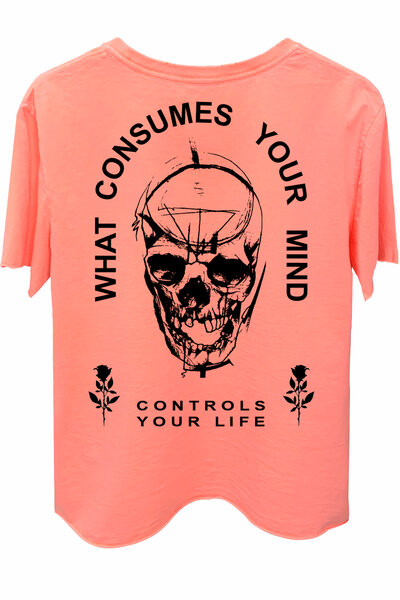 Camiseta estonada laranja Controls