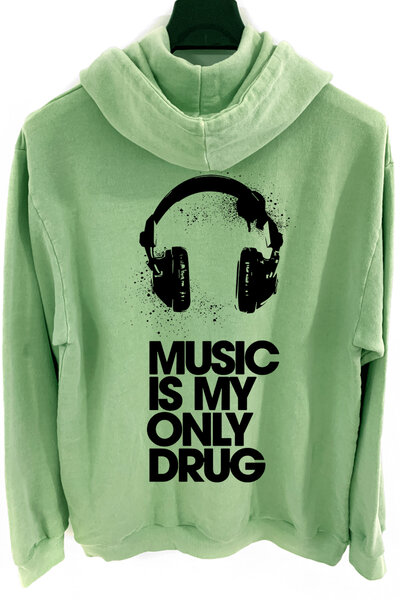 Blusa de moletom estonado verde Drug
