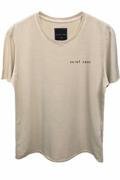 Camiseta estonada areia Tell Me (Back)