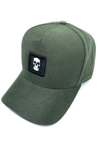 Boné Trucker Skull (Verde musgo)