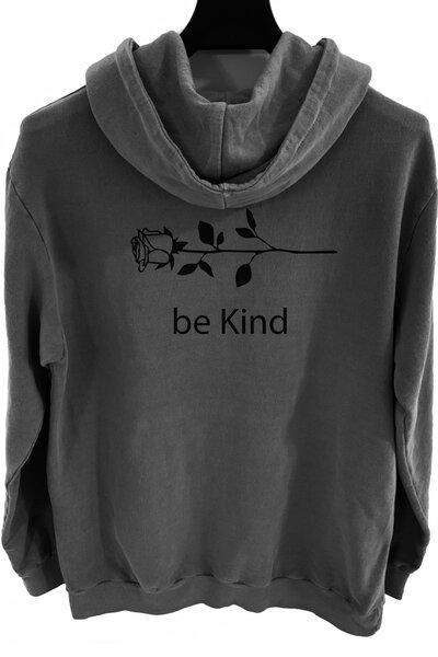 Blusa de moletom estonado chumbo Be Kind