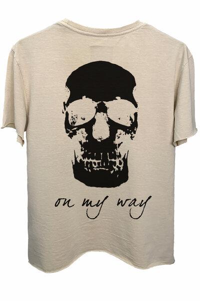 Camiseta estonada areia On My Way (Back)