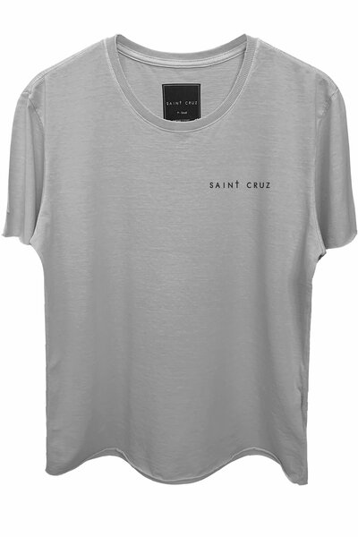 Camiseta estonada cinza clara Abstract Black Rose