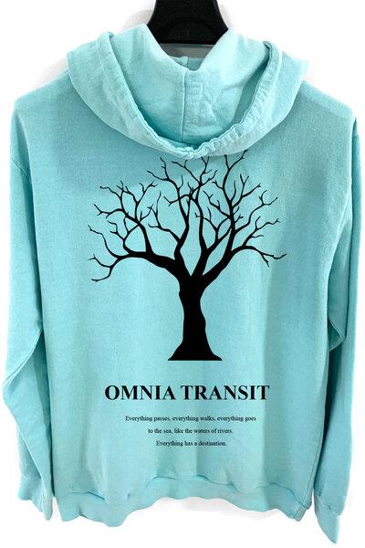 Blusa de moletom estonado azul Omnia Transit