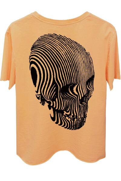 Camiseta estonada salmão Stripes