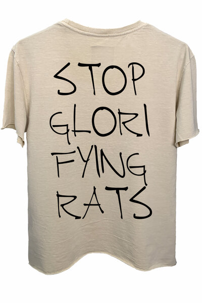 Camiseta estonada areia Rats
