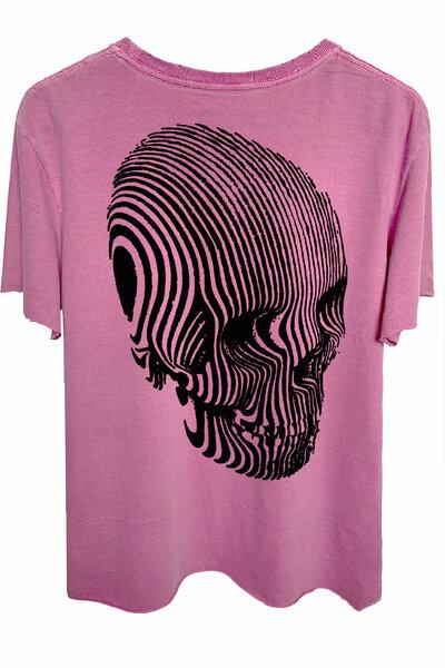 Camiseta estonada vinho Stripes