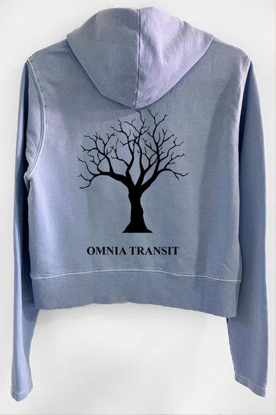 Blusa de moletom estonado azul Feminino Omnia Transit