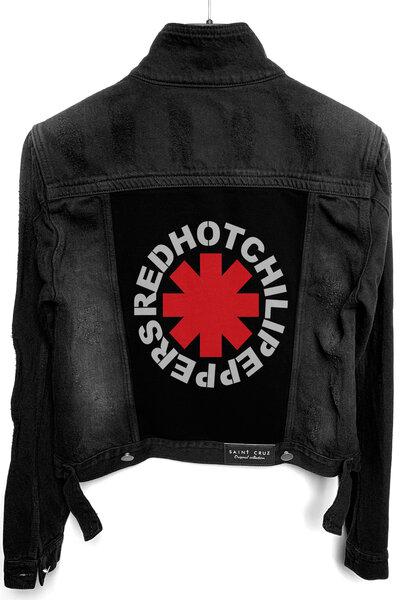 Jaqueta Jeans Rock Destroyed Preta Feminina Red Hot
