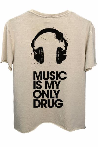 Camiseta estonada areia Drug