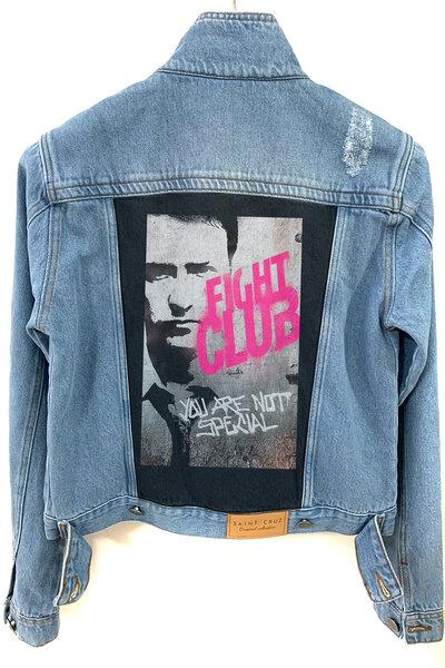 Jaqueta Jeans Destroyed Tradicional Feminina Club da Luta