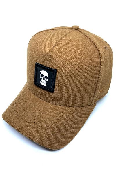 Boné Snapback Skull (Caramelo)