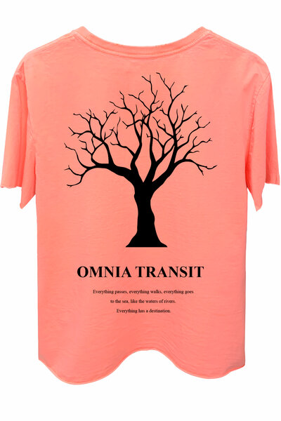 Camiseta estonada laranja Omnia Transit