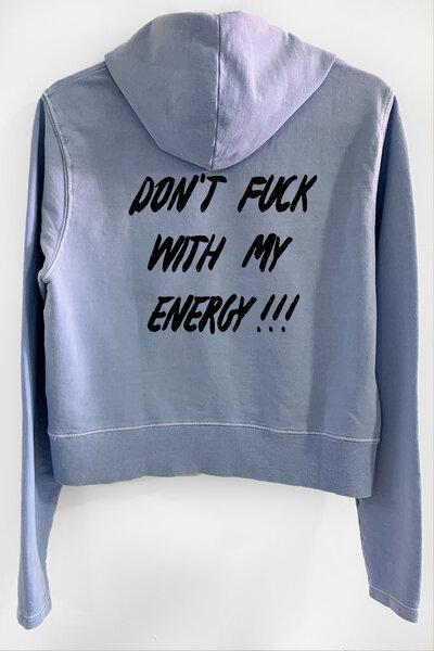 Blusa de moletom estonado azul Feminino Energy