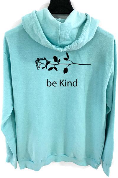 Blusa de moletom estonado azul Be Kind