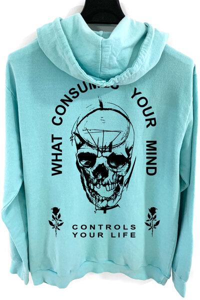 Blusa de moletom estonado azul Controls