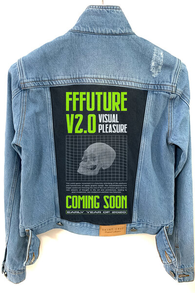 Jaqueta Jeans Destroyed Tradicional Feminina Future