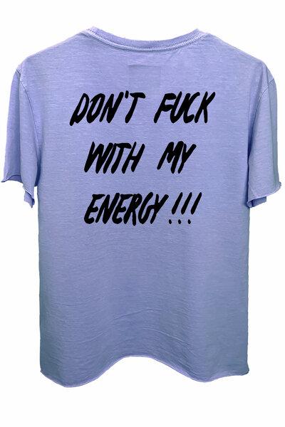 Camiseta estonada lilás Energy