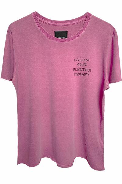 Camiseta estonada vinho Dreams (Front)