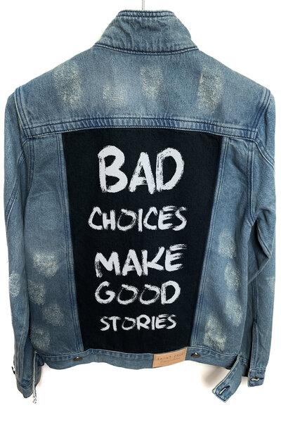 Jaqueta Jeans Destroyed Tradicional Masculina Bad Choices