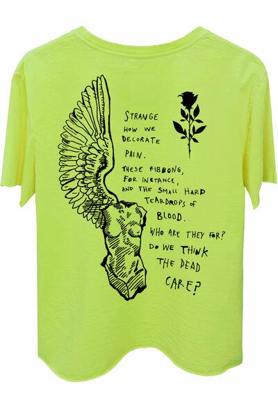 Camiseta estonada amarela Strange