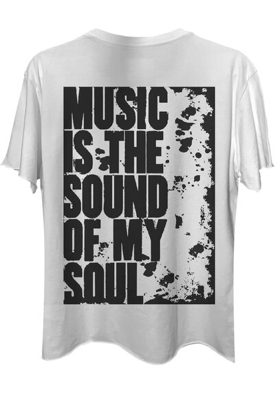 Camiseta com bolso branca My Soul